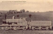 OLD G SMITH POSTCARD 1900's NEW 6 COUPLED GOODS ENGINE - SE AND CHATHAM RAILWAY