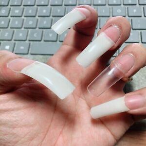 250 pcs/bags custom size #0 -> #9 High quality false acrylic nails tips  french