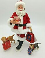 Department 56 Clothtique Possible Dreams Gift Parade 3 Set Santa & Pets 57.71279