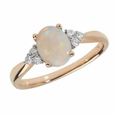 Ovale Ringe aus Gelbgold für den Jahrestag mit echten Edelsteinen