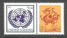 U.N. MNH 2012 Personalized Single & Label Year of the Dragon