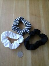 hair scrunchies, monochrome ,  black, white,