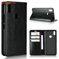 Luxury Genuine Leather Wallet Flip Case Stand Cover For Vivo V9/V9 Youth
