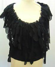 Vintage Issey Miyake Sleeveless Black Pleated Cotton Top Size 3 UK 12