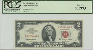1963A $2 Legal Tender FR#1514 PCGS 65 Gem PPQ