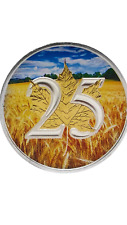 2013 Canadian 1 Oz Maple Leaf Wheat Field Anniv Coin & 24K Gilded Colorized Coin