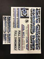 Diamondback Super Streak Decals Sticker Set Suit Your Old School BMX Blue