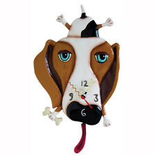 Allen Designs Buckley The Dog Pendulum Child's Kids Whimsical Wall Clock