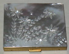 1950's Unused Beautiful Mother of Pearl Ladies Compact - Schildkraut See Photos