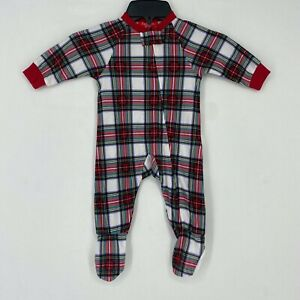 Macy's Matching Family Pajamas Baby 6 - 9 Months Stewart Plaid Footed One Piece