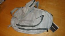 Eddie Bauer Light Gray and Dark Gray Ripstop Sling Pack NEW w Tags Backpack Bag