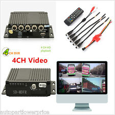 New Mobile HD DVR 4CH Video/Audio Dash Realtime Recorder With Remote SW-0001A