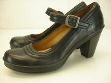Womens 6.5 M Clarks Artisan Leather Mary Jane Pump Rosalyn Wren Shoes Black Heel