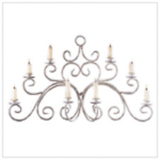 Wrought iron Candelbra Jar Topper, Metal and White
