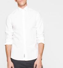 Camicia Bianca Calvin Klein vestibilità slim fit in cotone elasticizzato stretch