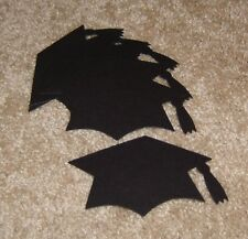 Graduation Hats ~ AccuCut Design.  Lot of Six in Black Cardstock