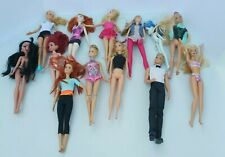 Mixed Lot of 13 Dolls Barbie and More