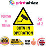 2 x CCTV in Operation Sticker Printed Vinyl Label House Shop Business Factory
