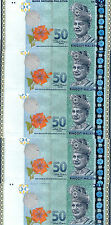 Malaysia RM50 Zeti ZB Replacement Banknote 5pcs R/N UNC
