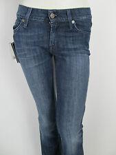 Seven For All Mankind SFAM 7fam Bootcut Damen Jeans Pants Strass Hose Blau 24