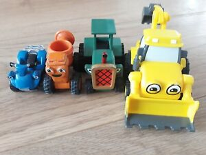 Bob the Builder - Diecast Travis and Dizzy and Pull Back Plastic Scoop Scrambler