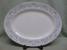 """Wedgwood Bone China White Dolphins 15"""" Oval Serving Platter R4652"""