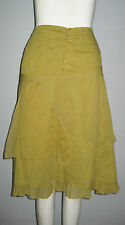 Solola Size 38 (F) 6 (US) 42 (IT) 10 (UK) Green Multi-Layered Women's Skirt