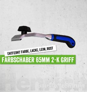 Farbschaber 65mm auswechselbare Klinge Schaber f. Farbe Lack Leim Rost 2-K Griff