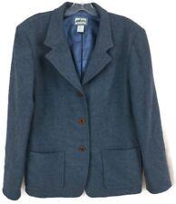 PENDLETON Womens Light Blue 100% Pure LAINE VIERGE Wool Blazer Jacket Size Large