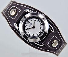 PALLAS Niños Reloj De Pulsera Negro Con Cuero 7724.78.16 NUEVO