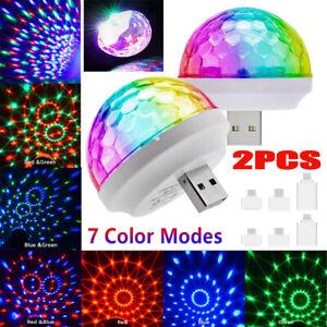 LED Disco Party USB Lights Strobe DJ Ball Sound Activated Bulb  Car Dance Lamp