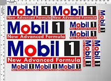 *1 SET MOBIL 1 NEW ADVANCED FORMULA F1 OIL AUTO LUBE STICKER PRINTED DIE-CUT