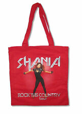 Shania Twain Rock This Country Tour Red Tote Bag New Official Merch