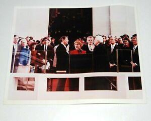 1981 RONALD REAGAN INAUGURATION VINTAGE PHOTO original campaign button bush