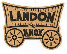 1936 Die Cut Stage Coach Political Decal for Landon & Knox