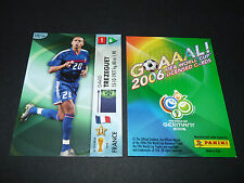 DAVID TREZEGUET FRANCE PANINI CARD FOOTBALL GERMANY 2006 WM FIFA WORLD CUP