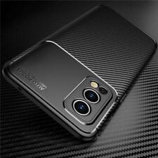 Für OnePlus Nord 2 5G Hülle, Silikon Karbonfaser Slim Stoßfest Handy Cover