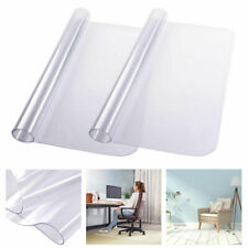 2Pcs Chair Mat Carpet Floor Office Computer Work Vinyl PVC Protector 120x90cm