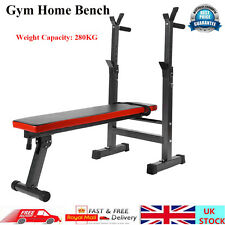 Adjustable Gym Shoulder Chest Press Sit Up Weights Bench Barbell Workout Fitness