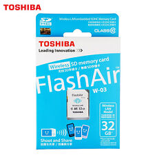 32GB TOSHIBA Wifi SD Memory Card Flashair Wireless LAN C10 W-03  SDHC 32G