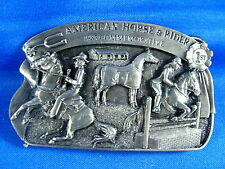Limited Edition 1983 American Horse and Rider Commemorative Belt Buckle