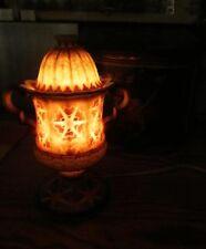 Art Deco Milk Glass Night Perfume Oil Lamp Incense Burner