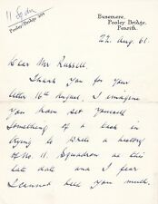 Letter Signed by L H M Robert 11 Sqn WW1  Veteran Pilot