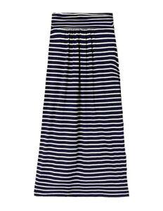 Boden Ruched Waist Jersey Skirt - Ivory/Navy Stripe Size 14 New