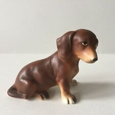 Vintage 1960's Lefton Japan Ceramic Dachshund Brown Dog Figure
