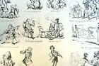 Old WAYS and NEW WAYS No 5 HENRY HEATH CARICATURE PRINT  1840 Victorian