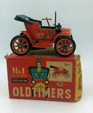 Masudaya Vintage Oldtimers No 1 Japan Tin Modern Toys Car Lever Action In Box