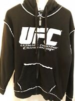 UFC Men's Size M Sweater Hoodie Heavy Knit Jacket Fleece Lined
