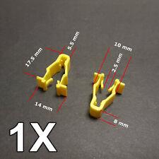 1X Yellow wheel arch trim clip for Honda Civic, CRV & HRV