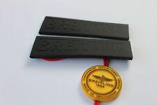 100% Genuine New OEM Breitling Black Diver Pro 3 Rubber deployment Strap 24-20mm